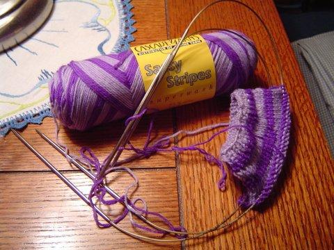 Socks on 2 Circulars